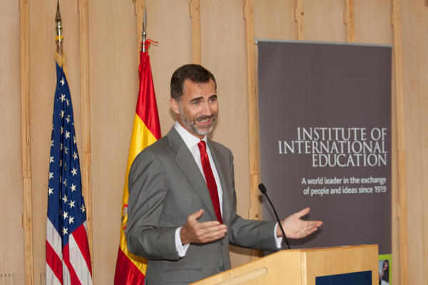 King Felipe speaking at the United Nations